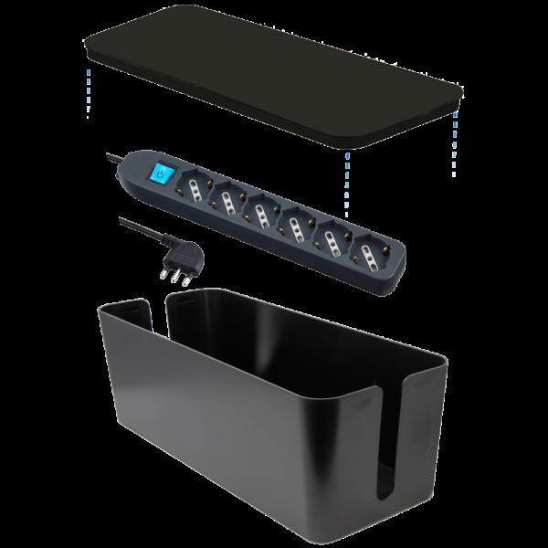 Box organizer con multipresa inclusa