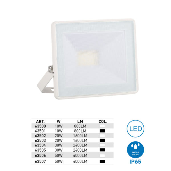 Proiettore Slim LED con staffa, IP65